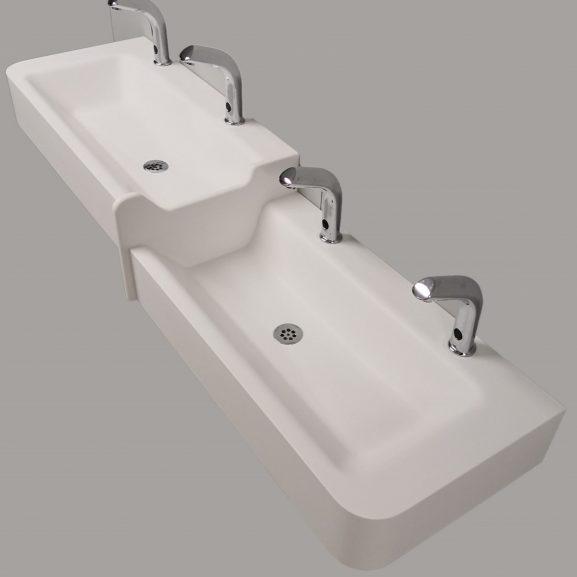 Tvättränna VATTENLEK med 2 nivåer.